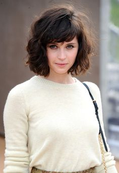Short hair with bangs. Next time I go short, this is going to be my template. Super cute.