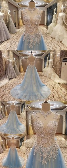 High Neck Prom Dresses A-line prom Dress Sweep Train Prom Dress Appliques Prom Dress Lace-up prom Dress Sexy Prom Dress  cheap prom dresses prom dresses 2017 prom dresses 2018 plus size prom dresses short prom dresses  prom dresses cheap #annapromdress #prom #promdress #evening #eveningdress #dance #longdress #longpromdress #fashion #style #dress