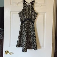 Party dress Super fitted mini worn once with Strappy black heels. Size XS Junior 00 Material Girl Dresses Mini
