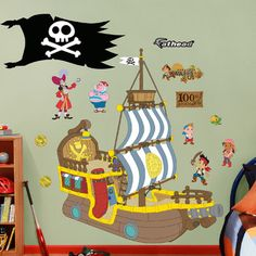 Fathead Disney Jake and the Neverland Pirates Bucky Pirate Ship Wall Graphic
