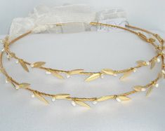 STEFANA Greek Crowns Ancient Greek Style Gold by NatalysWeddingArt