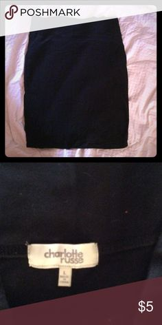 Black Stretchy Body Con Skirt Size large. Stretchy and comfortable Charlotte Russe Skirts Pencil