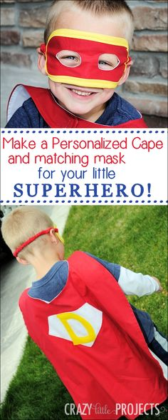 Personalized Superhero Cape Pattern from Crazy Little Projects
