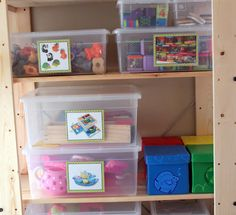 The Cottage Home: Operation Organization: Velcro Toy Storage Labels