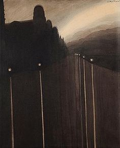 """Leon Spilliaert - Digue la nuit 1908 - Expo """"sept ans de réflexion"""" à Orsay - février 2015."""