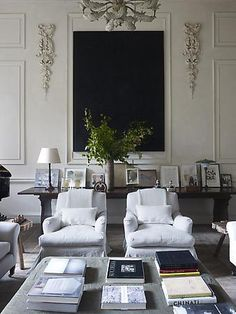 Antique & modern: Rose Uniacke Interiors, London.