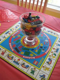 Use Lego Game as table centerpiece