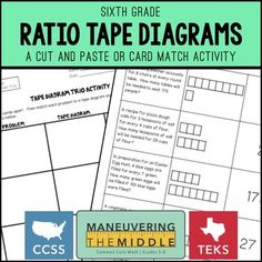 Solving ratio problems with tape diagrams interactive notebook solving ratio problems with tape diagrams interactive notebook diagram math activities and math ccuart Images