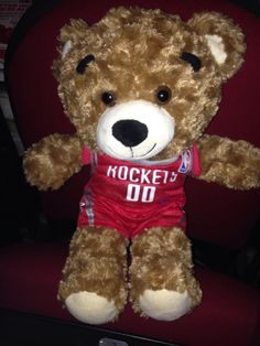 Looks like my Rockets Bear was a Good Luck Charm Houston Rockets win Thanks Angel Sneed Sam Sneed, Rockets Basketball, New Orleans Pelicans, Nba Playoffs, Houston Rockets, Teddy Bear, Angel, Charmed, Red