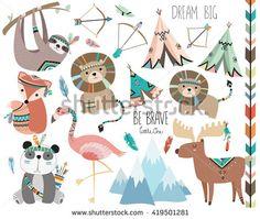 Cute Woodland Tribal Animals Volume 3