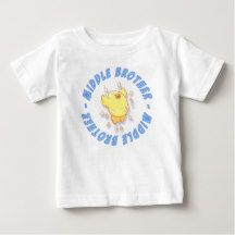 Happy Chick Little Brother T Shirt has matching big and little brother design. Chickens rule.