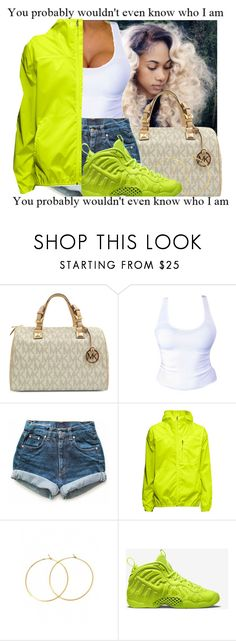 """Untitled #71"" by jayda-jaydaa ❤ liked on Polyvore featuring Michael Kors, Levi's, Charlene K and NIKE"