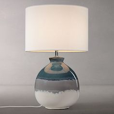 Buy John Lewis Martha Stripe Ceramic Table Lamp, Blue Online at johnlewis.com