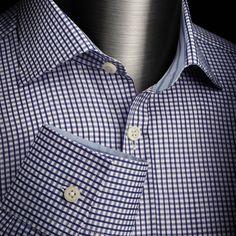 Dark Blue Mini Check   Charles Tyrwhitt Black Label