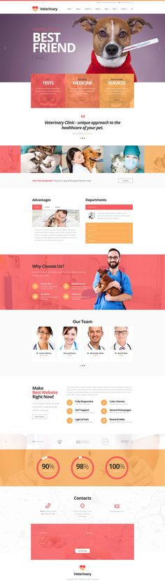 Buy Medico - Medical & Veterinary PSD Template by mwtemplates on ThemeForest. Medico is modern, clean and professionally crafted PSD template which can be used for Clinics, Doctors, Dental Clinic. Minimal Web Design, Web Ui Design, Responsive Web Design, Layout Web, Website Design Layout, Layout Design, Pet Websites, Mise En Page Web, Pag Web