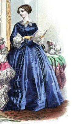 1854.  Le Moniteur de la mode.  Buttons.