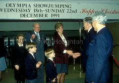 Diana Princess of Wales arriving at Olympia with sons William and Harry