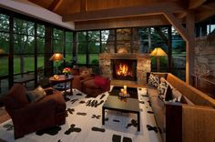 The sitting area of Benjamin Hills' home (Montana Ranches For Sale - Kootenai Springs Ranch)