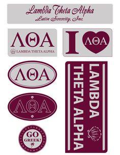 Lambda Theta Alpha Lifestyle Stickers