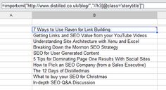 How to build Agile SEO tools using Google spreadsheets.