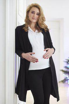 THE ONE black is pregnant CARDIGAN #black #cardigan #pregnant #elegant #classy #riskmadeinwarsaw #femininie #kardigan #czarny #wygodny