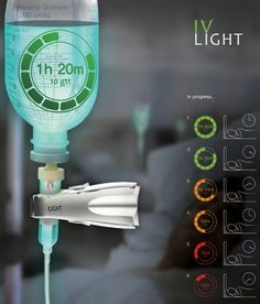 IV Light – a glow in the dark label that reflects the amount of fluid remaining. Each color meaning the time left until the bag needs changing. Wood Panel Walls, Wood Paneling, Paneling Ideas, Color Meanings, Medical Design, Yanko Design, Design Awards, Industrial Design, Creative Design