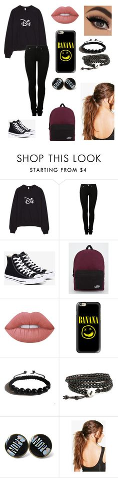 """Untitled #69"" by paigevjacobs on Polyvore featuring MM6 Maison Margiela, Converse, Vans, Lime Crime, Casetify, Shamballa Jewels and Boohoo"