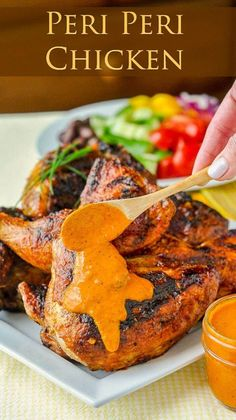 Peri Peri Sauce for Portugese Chicken Pinterest Collage