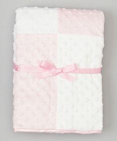 Another great find on #zulily! SpaSilk Pink & White Minky Dot Blanket by SpaSilk #zulilyfinds