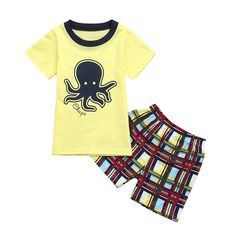 FEITONG Toddler Infant Baby Boys Cartton Cat Striped T Shirt Tops Outfits