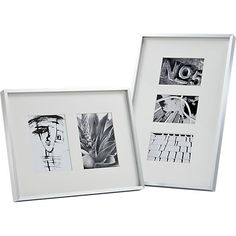 gallery 5x7 brushed silver picture frame  | CB2