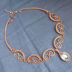 lovely wire necklace - no attribution or information