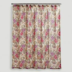 Sonoma Ikat Floral Shower Curtain | World Market   $20