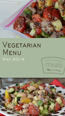 Vegetarian May 2014 Menu | OAMC from Once A Month Meals | Freezer Cooking | Freezer Meals
