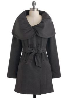 """This is a fabulous """"go to coat""""  for the office. Love the collar & form fit the belt offers."""