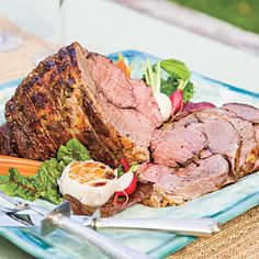 """ORIGINAL PIN: """"Cat Cora's Roasted Lamb"""" -- Recipe from """"Southern Living"""" -- OUTCOME: This was 2012's Easter lamb for my family. Probably my second favorite lamb recipe out there and very similar to my favorite. [http://pinterest.com/pin/175218241723557123/ ]"""