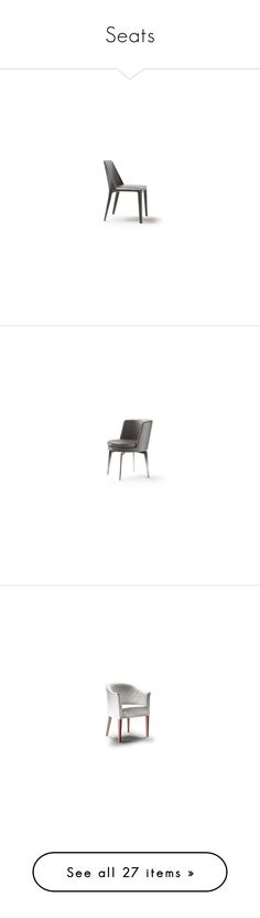 """Seats"" by kalujak on Polyvore featuring home, furniture, chairs, accent chairs, sofas, decor, brown, zanotta furniture, brown furniture и mod chair"