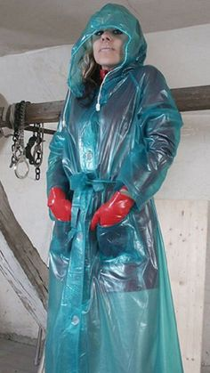 Vinyl Raincoat, Plastic Raincoat, Pvc Raincoat, Girls Wear, Women Wear, Plastic Mac, Rain Suit, Rain Wear, Girls In Love