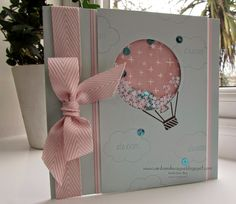 Stampin' Up UK Demonstrator Sarah-Jane Rae Cards and a Cuppa blog, Celebrate Today Balloon shaker card, Sale-a-Bration 2015,