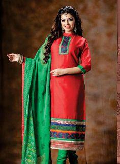 Red Festival Special Salwar Kameez Supplier From Surat