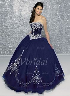 Quinceanera Dresses - $245.00 - Ball-Gown Sweetheart Floor-Length Organza Quinceanera Dress With Embroidered Beading (02105024471)