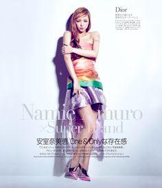 """""""popsister:  Namie Amuro in GLAMOROUS April 2013  """""""