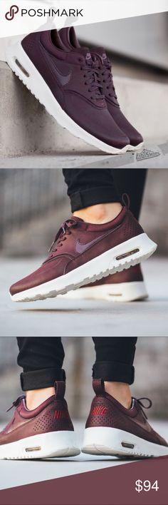 Womens Nike Air Max Thea Sneakers Barely worn (maybe twice). Like new. Maroon. No makes or scuffs. Nike Shoes Sneakers
