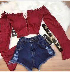 Girls Fashion Clothes, Teen Fashion Outfits, Mode Outfits, Retro Outfits, Cute Fashion, Outfits For Teens, Moda Fashion, Cute Swag Outfits, Crop Top Outfits