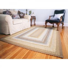 Homespice Decor Cotton Braided Cape Cod Rectangular Rug - 418470