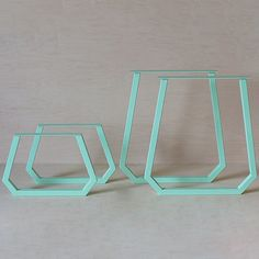 ON SALE! $200 OFF! Matching set of table legs for a dining table and coffee table. All pieces were powder coated mint green. Four (4) pieces total.