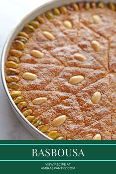 Egyptian basbousa is one of the most famous Arabic sweets. Semolina mixed with butter, sugar, yogurt and coconut and drizzled with flavored sugar syrup. #ArabicSweets #EgyptianDesserts #SemolinaCake #EasyDessertRecipe #MiddleEastFood