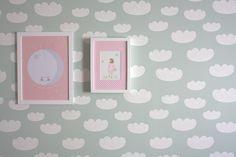 Eef Lillemor and WishªColor paints Ferm LIVING Cloud wallpaper