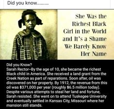 Black History Month: Sarah Sector - Richest Black Girl in the World