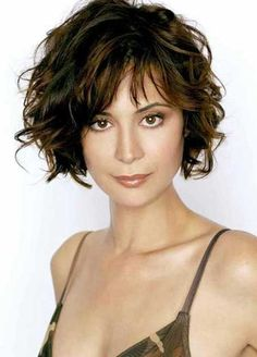Easy Short Curly Hairstyles with Bangs